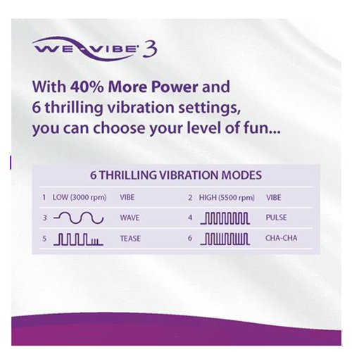 We-Vibe 3 Vibration Patterns