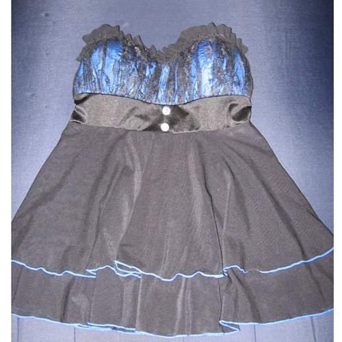 Blue babydoll front
