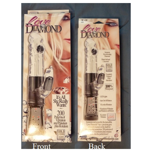 Front and back of box