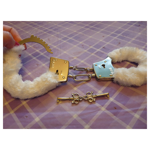 Fuzzy cuffs and keys