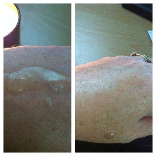 oil on skin