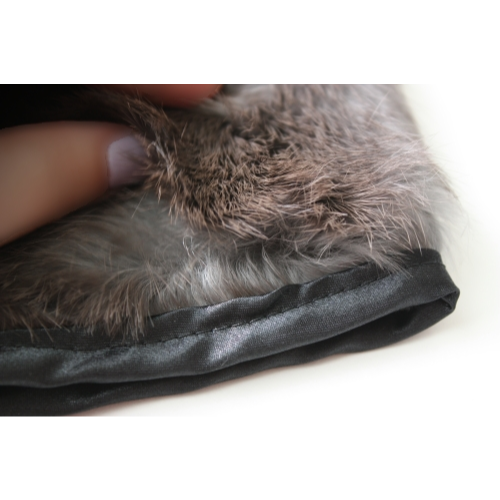 Rabbit Fur Mitt - plush