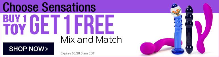 Choose Sensations: Buy 1 Toy Get 1 FREE