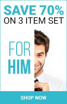 Save 70% On 3 Item Set For Men