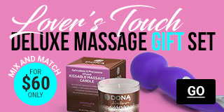 Lover's Touch! Deluxe Massage Gift Set For $60