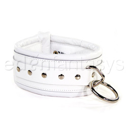 Bdsm collar - Luxe white collar
