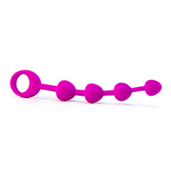 Sensuous silicone anal beads