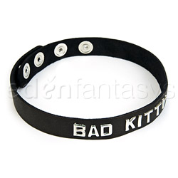 Bdsm collar - Bad kitty wordband collar
