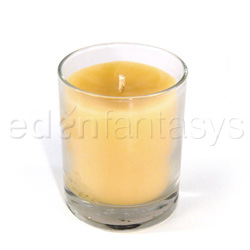 Candle - Beeswax aromatherapy candle in a jar (patchouli / palmarosa)