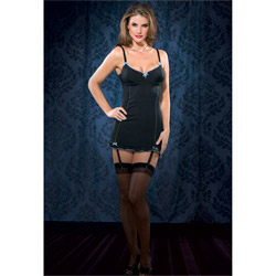 Gartered Chemise - Lace up back gartered chemise (M)