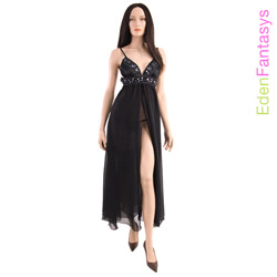 Sexy gown - Sequin seduction gown and g-string (M)