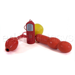Inflatable pleasure master double plug