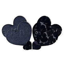 Black heart pasties (BC)