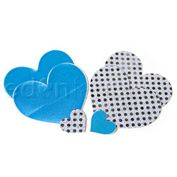 Something Blue heart pasties (BC)