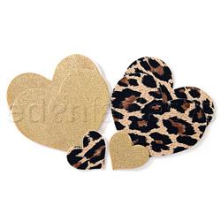 Leopard heart pasties (AB)