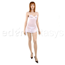 Sexy panty, Chemise and panty set - Embroidered elegance chemise and thong (L)