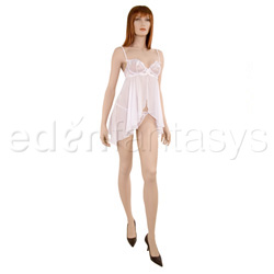 Babydoll And Panty Set - Embroidered elegance babydoll with thong