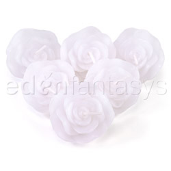 Candle - Floating roses (White)