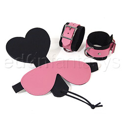 Bondage Kit - Pink bound leather kit