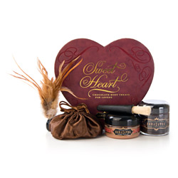 Sensual bath, Sensual kit - Sweet Heart chocolate box