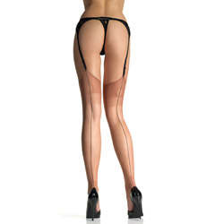 Thigh highs - Reinforced heel and toe backseam thigh highs