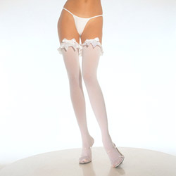 Thigh highs - Thigh highs with ruffles and bows