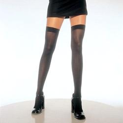 Thigh highs - Opaque thigh highs (Black)