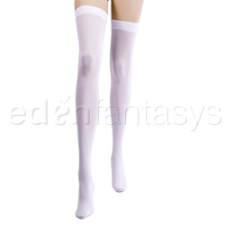 Thigh highs - Opaque thigh highs (White)