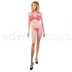 Bra And Panty Set - Ruffled bikini set