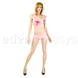 Bra And Skirted Panty Set - Diamond mesh bra set (SM)