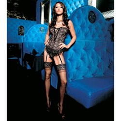 Bustier And Panty Set - Strapless bustier and g-string (L)