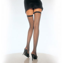 Thigh highs - Backseam fishnet thigh highs