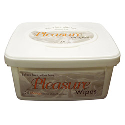 Adult Wipe - Pleasure wipes tub (Mango)