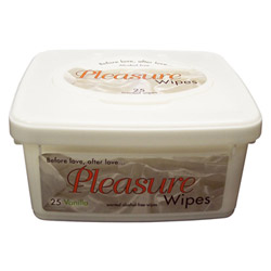 Adult Wipe - Pleasure wipes tub (Vanilla)