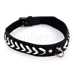 Bdsm collar - Herringbone collar (White)