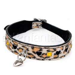 Bdsm collar - Leopard bling collar
