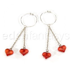 Nipple Jewelry - Asian hearts nipple rings