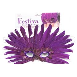 Bondage mask - Festiva exotic mask (Purple / Brown)