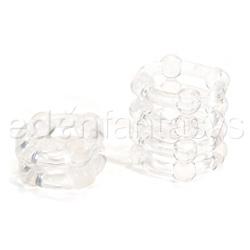 Penis ring - Buckshot silicone rings (Clear)