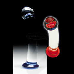 Glass G-Spot Shaft - Smooth shaft prized perennial (Blue)