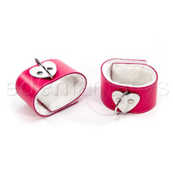 Ankle Cuff - Pink heart ankle restraints