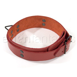 Bdsm collar - Lined collar (Red)