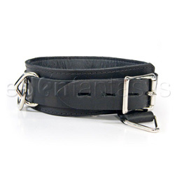 Bdsm collar - Locking collar with mini bondage rings