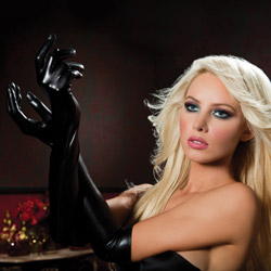 Lame opera length gloves