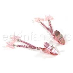 Nipple clamp - Precious gems butterfly nipple jewelry