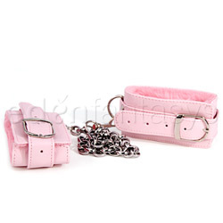 Ankle Cuff - Pink plush ankle cuffs