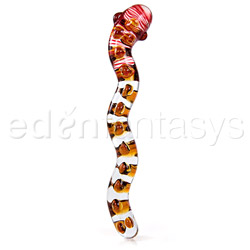 Glass dildo - Snake of paradise