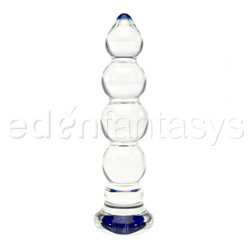 Glass dildo - Heavy bulbous blue head