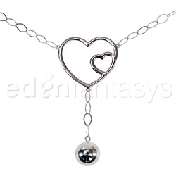 Body jewelry - Double hearts belly chain