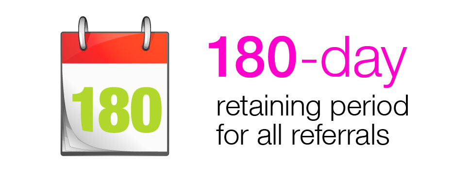 180-day retaining period for all referrals